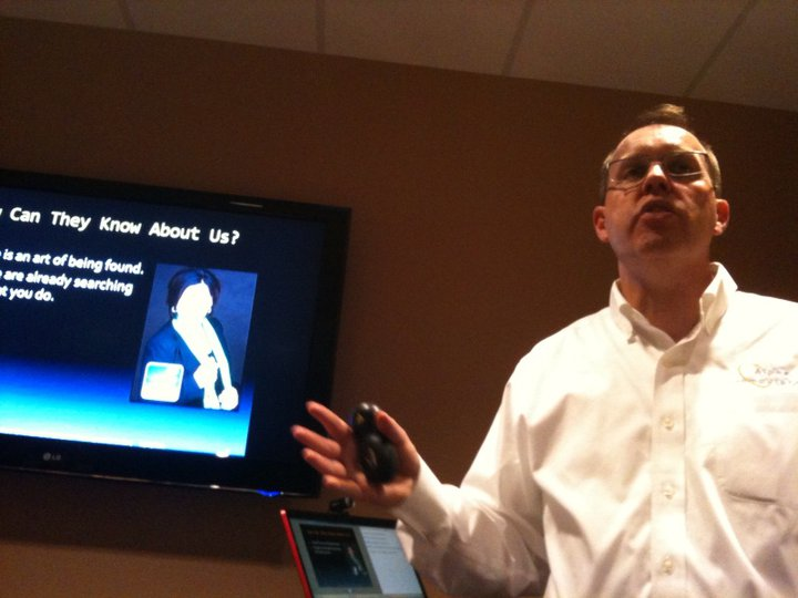 Jeff Brown delivering social media training in Dartmouth